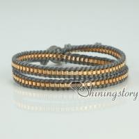 leather cotton cord adjustable bracelets wristbands bracelets triple layers wrap bracelets cheap china jewelry fashion jewelry