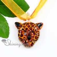 leopard lampwork murano italian venetian handmade glass necklaces pendants