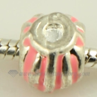 lines enamel european big hole charms fit for bracelets