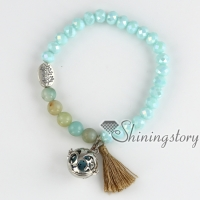 bracelets with tassels aromatherapy bracelet oil diffuser jewelry buddhist rosary yoga bead bracelets