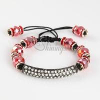 macrame armband rhinestone beaded bracelets jewellery