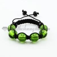 macrame foil murano glass ball bracelets jewelry armband