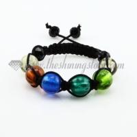 macrame foil murano glass beads bracelets jewelry armband