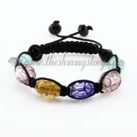 macrame foil swirled lampwork murano glass beads bracelets jewelry
