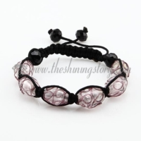 macrame foil swirled lampwork murano glass bracelets jewelry armband