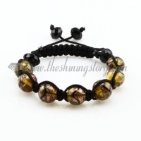 macrame glitter venetian glass beads bracelets jewelry armband