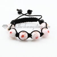 macrame lampwork murano glass with flower bracelets jewelry armband