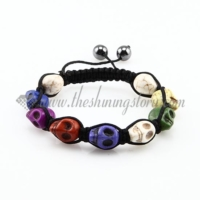 macrame skeleton beads bracelets jewelry armband