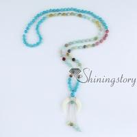 mala bracelet crescent moon necklace 108 prayer beads mala beads wholesale prayer bead necklace