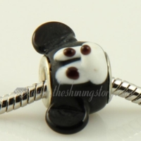mouse animal lampwork glass beads for fit charms bracelets