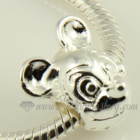 animal silver plated european charms fit for bracelets