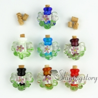 miniature glass bottles small decorative glass bottles glass vial pendants