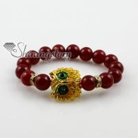 night owl agate turquoise amethyst opalsemi precious stone charm stretch bracelets