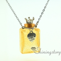 oblong luminous diffuser necklace aromatherapy jewelry necklace diffuser pendant bottle charm necklace