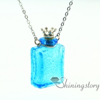 oblong luminous diffuser necklaces wholesale diffuser bracelet essential oils jewelry necklace vials