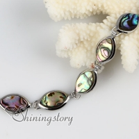olive seawater rainbow abalone shell mother of pearl toggle charms bracelets