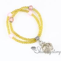 openwork beaded bracelets charm bracelets ball heart diffuser jewelry essential oil pendant aromatherapy pendants quartz metal volcanic stone