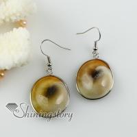 oval yellow oyster shell dangle earrings cheap china jewelry fashion jewelry