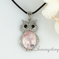 oyster sea shell pendants night owl patchwork rhinestone necklaces other of pearl jewellery