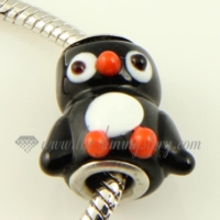 penguin murano glass beads for fit charms bracelets