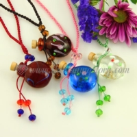 necklace vials for ashes essential oil diffuser necklaces wholesale supplier italian murano glass jewellery