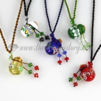 small wish bottle pendant necklace necklace vials for ashes wholesale supplier venetian murano glass jewelry