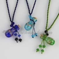 small wish bottle pendant necklace empty small glass vial necklace pendants wholesale distributor handcrafted lampwork glass glitter jewellery hand blowm