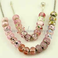 pink murano glass beads for fit charms bracelets