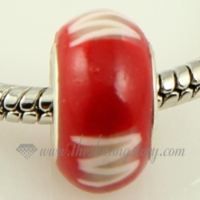 polymer clay big hole beads for fit charms bracelets
