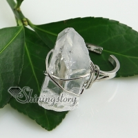 quartz rock crystal agate finger rings