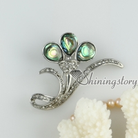 rainbow abalone shell rhinestone brooch streamer teardrop openwork brooch mother of pearl jewellery