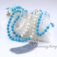 real pearl necklace hindu chinese buddhist prayer beads 108 mala bead necklace buddist meditation beads white pearl jewellery