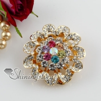 rhinestone filigree flower scarf brooch pin jewellery