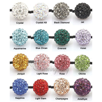 rhinestone glitter ball pave beads 10mm