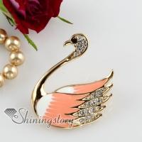 rhinestone swan scarf brooch pin jewellery