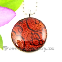 round handmade dichroic glass necklaces pendants jewelry