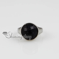round semi precious stone natural finger rings