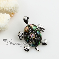 sea turtle patchwork sea water rainbow abalone shell brooch
