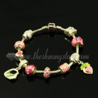 silver charms bracelets with european enamel european beads