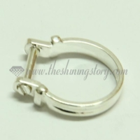 silver plated finger rings for big hole charms beads