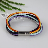 six layer magnetic buckle pu leather bracelets