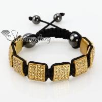 square beads rhinestone macrame bracelets