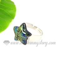 star handmade dichroic glass finger rings jewelry