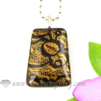 swirled handmade dichroic glass necklaces pendants jewelry