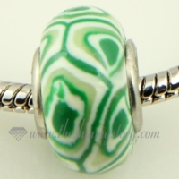 swirled polymer clay big hole beads for fit charms bracelets