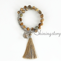 tassel bracelet prayer beads diffuser bracelets jewellery lockets meditation beads crystal healing jewelry
