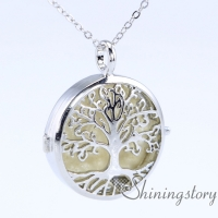tree of life silver locket necklace for essential oils aromatherapy jewelry a locket necklace jewelry diffusers small locket necklace