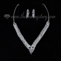 wedding bridal prom rhinestone chandelier necklaces and earrings