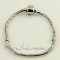 white gold plated european bracelets fit fo charms beads