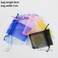 wholesale organza jewelry pouches small gift bag mix color small organza bags fancy drawstring pouches